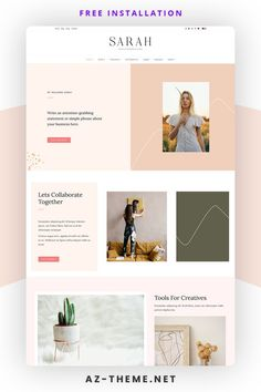 Sarah – Premium WordPress Theme. A chic and feminine WordPress theme that is beautifully designed and packed with features. With its sophisticated design and endless customization options. Perfect choice for online businesses, creatives, bloggers, and influencers looking to level up their online brand. Blog Layout, Grid Layouts, Blog Names, Instagram Widget, Themes Themes, Header Image, Website Themes, Premium Wordpress Themes, Simple Elegance