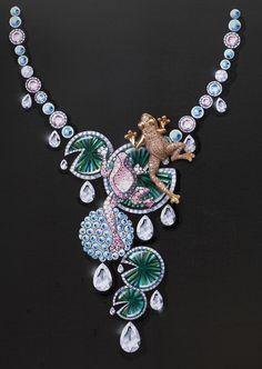 """Esquisse et Croquis - Collier Grenouille - 2010 - Collection Haute Joaillerie """"Le Monde des Animaux"""" #lilypad #frog #jewels"""
