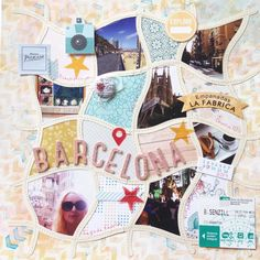 Barcelona Scrapbook Layout