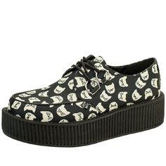 T.U.K. Shoes Black Kitty Galore High Viva Creeper