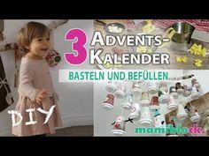 3 Adventskalender basteln und befüllen   DIY   mamiblock - YouTube