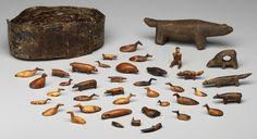 Inuit ivory and bone amulets.