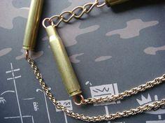 bullet bracelet. I find enough shells in my yard to make quite a few.