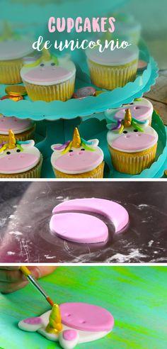 Este tip te enseñará a decorar tus cupcakes como unos lindos unicornios.