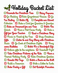 Holiday+Bucket+List.jpg (1280×1600)