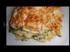 Lasagne al forno con i broccoli - YouTube