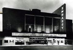 EMBASSY Durban CINEMA  SOUVENIRS  The elegant Embassy Theatre was situated in Smith Street, Durban and opened its doors  in 1955. The seating capacity was 1974 contained in both stalls and circle sections.  After 34 years, the cinema was closed on Saturday 15 April 1989.