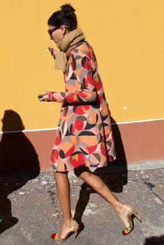 Cool Chic Style Fashion: In the Street Style Giovanna Battaglia Street Style Chic, Looks Street Style, Looks Style, Style Me, Parisian Street Style, Retro Style, Giovanna Battaglia, Look Fashion, Winter Fashion