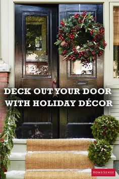The weather outside is frightful, but that doesn't mean your front stoop has to feel that way, too! Create a warm welcome with some festive greenery and outdoor-friendly decorative accents. HomeSense has all the bells and whistles for dressing up your entry head to toe – visit a store today.