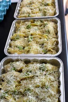 6 easy freezer meals (including pesto chicken stuffed shells, yum)