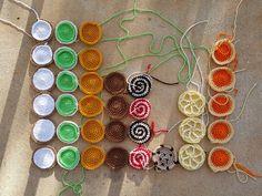 crochet cookie bar graph, crochetbug, crochet circles, amigurumi cookies, crochet baby blanket, cookie crochet blanket