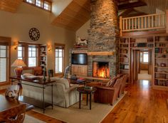 Image result for two-story barndominium interior