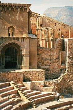The Roman Theatre of Cartagena, Cartagena, Spain. Spain v. Places Around The World, The Places Youll Go, Places To See, Around The Worlds, Architecture Antique, Roman Architecture, Roman Theatre, Barcelona, Ancient Ruins