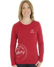 ethica long sleeve t-shirt | Red | L72 Made in Canada