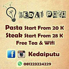 PROMOSI IKLAN ONLINE OCTOPUS: Kedai Putu Steak & Pasta Jl. Mustang B2/14 Bandung...