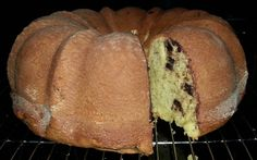 Chocolate Chip Banana Bread - made from yellow cake mix and pudding