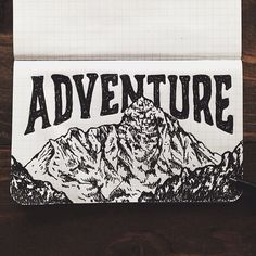 steelbison:  Scribbling the night away. #FieldNotes #mountains...