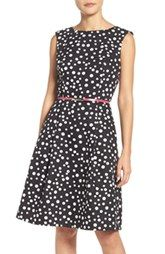 New Adrianna Papell Polka Dot Fit