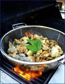 Artichoke Minted Chicken Grilled Basket