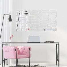 Nalepovacie zrkadlo na stenu Office Desk, Lighting, Furniture, Home Decor, Homemade Home Decor, Desk, Home Furnishings, Lights, Lightning
