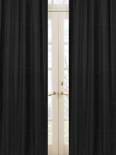 Sweet Jojo Designs Minky Dot Black Window Panels #tinytotties #kidsroomdecor