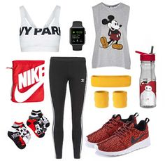 Activate summer with Disney workout style   Mickey Mouse athletic fashion + accessories   [ https://style.disney.com/living/2016/06/20/disney-summer-workout-style/ ]