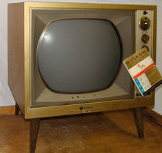 "Vintage 1959 RCA 21"" Color TV Roundie TUBE CTC9 - GOLDEN ANNIVERSARY - WORKS"