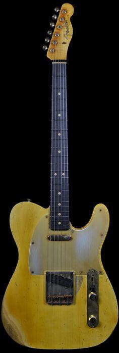 Wild West Guitars : Fender Masterbuilt John Cruz 1963 Heavy Relic Telecaster Vintage Blonde with Gold Hardware