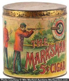 The Marksman Cigar tin