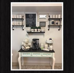 I spent months and months creating my Coffee/Tea Bar in my small apartment kitchen, finding rare pieces from the Rae Dunn Collection proved to be challenging at times but totally worth the final product in the end! I love her items and they totally fit my style and decor ❤️☕️