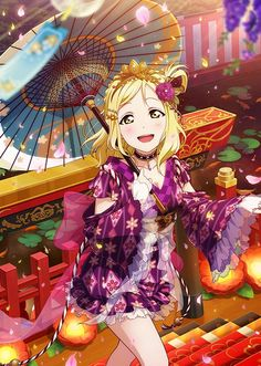 Love live sunshine Mari yukata style idolized clear