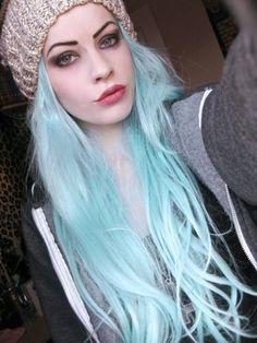 Top 50 Funky Hairstyles for Women - Hair Ideas - Haarfarben Blue Green Hair, Pastel Blue Hair, Light Blue Hair, Mint Hair, White Hair, Neon Hair, Violet Hair, Lilac Hair, Bright Hair