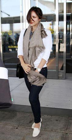 Katharine McPhee at JFK Airport