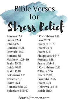 Encouraging Bible Verses: Bible verses for stress relief. Have faith in and spend time with God and experience love, guidance, peace and comfort. Prayer Scriptures, Bible Prayers, Prayer Quotes, Wife Quotes, Quotes Quotes, Catholic Bible Verses, Jesus Quotes, Wisdom Quotes, Religion Quotes