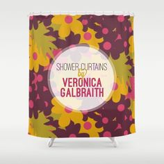 Get some colour and joy into your morning showers! Check out all the lovely shower curtains on my Society6 shop http://society6.com/verogalbraith/shower-curtains.