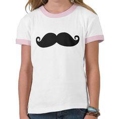 Moustache noire vintage drôle t-shirts