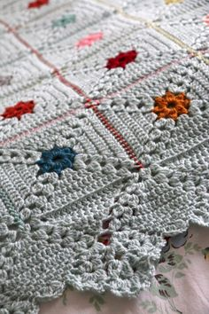 My Forget Me Not Dots Blanket pattern is here!
