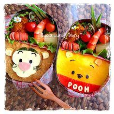 Tigger and Pooh bento