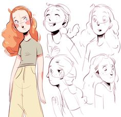 character dev for comic, this girlie is ainsley