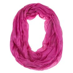 Solid Color Squiggle Infinity Scarf (1.475 RUB) ❤ liked on Polyvore featuring accessories, scarves, pink, infinity scarf, pink shawl, circle scarves, round scarf and infinity scarves