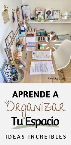 Office Decor, Home Office, Medicine Student, Ideas Para Organizar, Konmari, Office Organization, Study Tips, Declutter, Home Deco