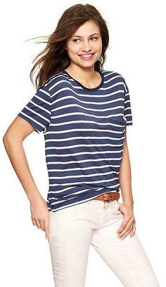 Gap Stripe pocket T on shopstyle.com