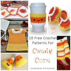 10 Free & Tempting Candy Corn crochet patterns | CrochetSTreet.com What can you say about candy corn that these candy corn crochet patterns don't already say? Ancient Egyptians and earlier peoples recognized the value in preserving nuts and berries in honey. Candy canes are thought to originate in Cologne Germany (1670s) and the first chocolate bar was pressed in England (1847). The Candy Corn was created by the Wunderle Candy Company in the 1880s!