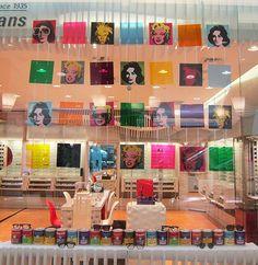 brookfield - Andy Warhol window display by Re-Creative.
