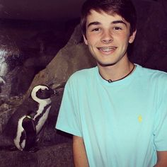 Hunter Geurink ♥looks like that penguin is checking him out