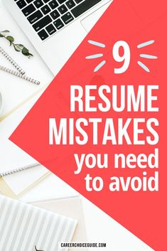 Is your job search taking longer than expected? If you're not getting invited to job interview, the problem might be with your resume. Check out these 9 common resume writing mistakes to make sure they aren't derailing your job hunting efforts. #jobsearch #resume #careerchoiceguide