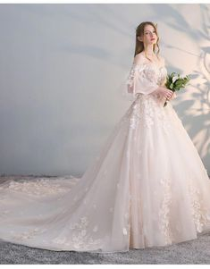 moonlight couture fall 2019 bridal sleeveless lace straps sweetheart neckline embellished bodice a line ball gown wedding dress romantic princess tiered skirt chapel train blush mv -- Moonlight Couture Fall 2019 Wedding Dresses Top Wedding Dresses, Wedding Dress Trends, Bridal Dresses, Gown Wedding, Wedding Bride, Bridesmaid Dresses, Prom Dresses, Lace Wedding, Winter Wedding Dress Ballgown