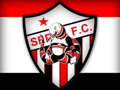 Mascote do Serra Futebol Clube Montagem criada a partir de artes da internet sem fins lucrativos.