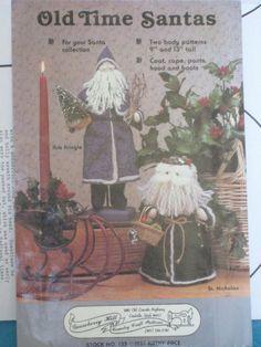"Old Time Santa 9"" or 13"" Doll Pattern Uncut Primitive Kris Kringle St. Nicholas"