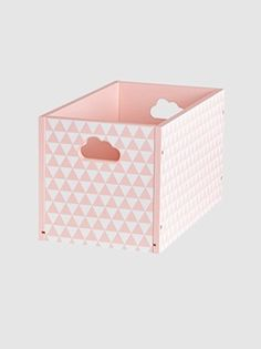 These really stylish boxes are ideal for tidying away teddies and toys! SIZE: Length 30 x height 17 x width 17 cm. Choice of 2 colours: plain white, pink with Small Storage Boxes, Storage Bins, Kids Furniture, Bedroom Furniture, Baby Co, Toy Boxes, Toddler Toys, Cool Toys, Bookshelves